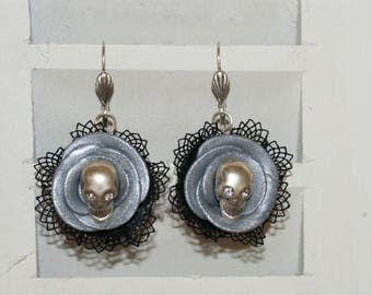 """""""Pink deadly and old lace"""" earrings"""