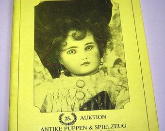 German Catalog Auction KUNST & AUKTIONSHAUS Antique Dolls Toys Christmas 1984