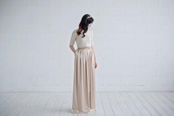 Oria - gold wedding dress