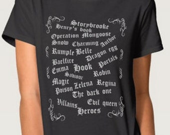 Once upon a time OUAT inspired t shirt- fan
