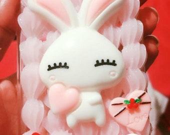 Kawaii Bunny Custom Decoden Case for iPhone 6