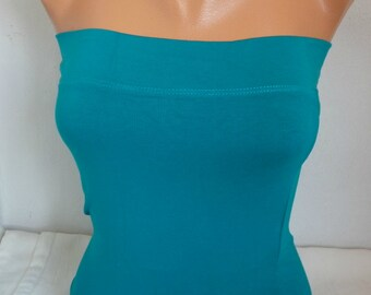 Teal Tube Top,Crop Top,women activewear, Yoga Strapless Top, Bandeau Top, Strapless Top, Tube Tops, Sexy Top,