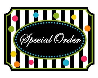 Special Order for Belinda