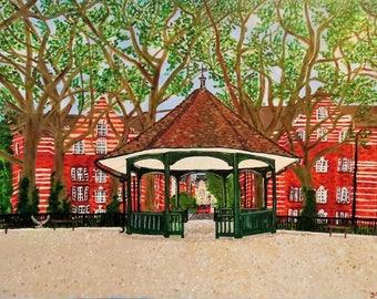 Original acrylic painting - London, E1
