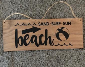 Sand Surf Beach Wall Hanging