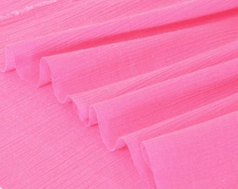 Fabric crepe cotton extra soft pink x 50cm