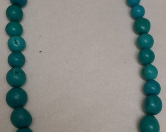 10mm round Turquoise Necklace