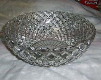 """Waterford """"Waffle"""" 8 1/4"""" large berry bowl"""