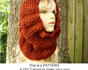 Instant Download Knitting Pattern PDF - Knit Cowl Scarf Knitting Pattern PDF for Twilight Cowl - Womens Accessories