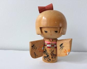 wooden Japanese Kokeshi doll / figurine