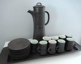 Vintage Dansk Flameware - Dansk Coffee Set - Jens Quistgaard Design - 22 Piece Vintage Dansk - Dansk IHQ Coffee Set