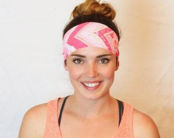 Light & Dark Pink, Yoga Headband, Fitness Headband, Workout Headband, No slip Headband, Running Headband, Wide Headband, Crossfit