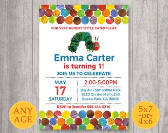 Very Hungry Caterpillar Invitation, Our Very Hungry Caterpillar Birthday Invitation, The Very Hungry Caterpillar invite, Caterpillar card