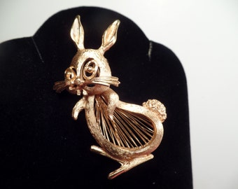 "Monet ""Spinnerets"" Rabbit Brooch-C.1961. Book Piece"