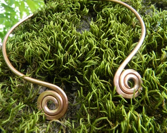 Celtic copper torques. Handmade copper necklace.