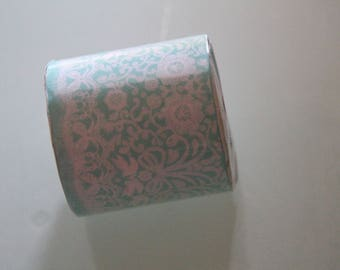 masking tape lace tape turquoise and white prints