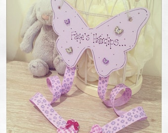 Butterfly Hair clip holder - personalised