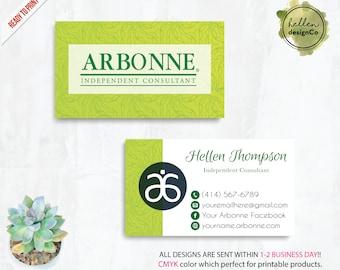 Arbonne Business Card, Custom Arbonne Card, PERSONALIZED Arbonne marketing, Printable File, Custom Business Card AB01