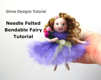 Needle Felting Tutorial. Waldorf Fairy Doll Pattern. Felting Pattern. Felting Tutorials PDF.  Needle Felting Class. Needle Felt Tutorial