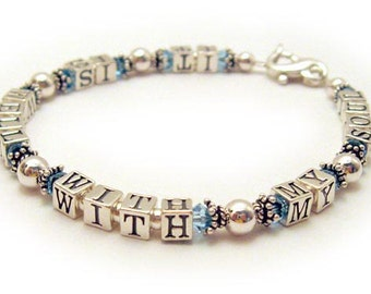 It Is Well With My Soul Bracelet - Sterling Silver Message Jewelry