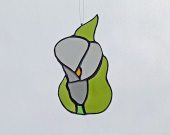 Nature Inspired Gift - Stained Glass Calla Lily - Flower Suncatcher - Unique Wedding Gift - Anniversary Gift