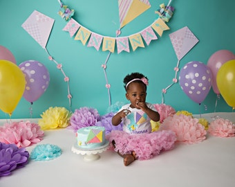 PASTEL BIRTHDAY BANNER / Pastel birthday / 1st birthday banner / Pastel banner / First birthday banner / First birthday banner girl /
