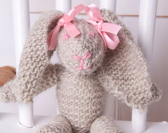 Rabbit soft toy knitting pattern. Quick knit! Easy pattern! Instant PDF download!