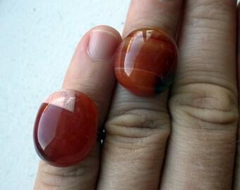 Pair of two Vintage Semi Precious Stone Rings