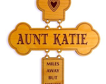 Long Distance Aunt Gift - Aunt Mothers Day - Gifts for Auntie - Aunt Birthday Gift -  Personalized Aunt Gift from Niece and Nephew