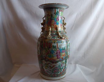 "18"" rose medallion vase"