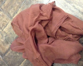 Brown silk blend chiffon