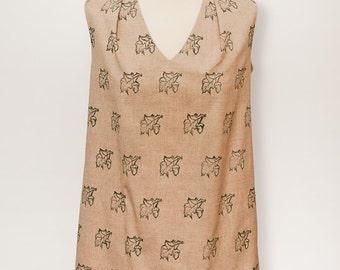 Summer Dress in Printed Organic Cotton
