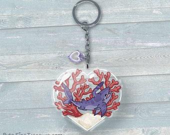 Kibble the Falcatus Shark // Jawesome Shark Friend! - Acrylic Keychain
