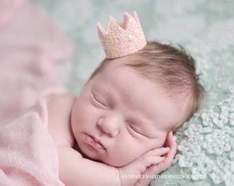 Newborn Crown | Newborn Photo Prop|| Newborn Hat | Glitter Crown