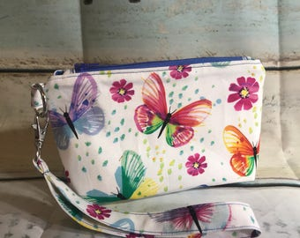 Essential Wristlet Pouch ~ Dogs or Butterflies