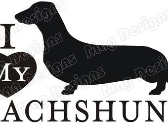 Saucisse chien teckel de vinyle Vinyl chien Decal Silhouette sur Etsy ou vous choisissez la couleur