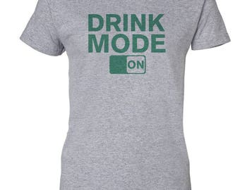 Drink Mode On St. Patricks Day Custom Women's Ultra Cotton Gildan Fashion T-Shirt