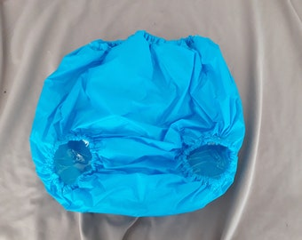 Adult baby waterproof Noisy  blue forward facing legs  pants/nappy covers