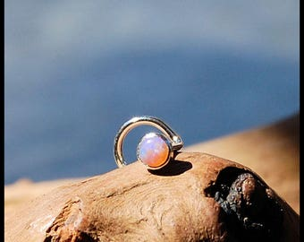 Pink Opal Nose Stud / Nose Ring / Gemstone Nose Ring / Rock Your Nose / Unique Nose Jewelry  -  CUSTOMIZE