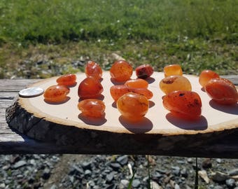 Large Carnelian Tumbled Crystal Pieces