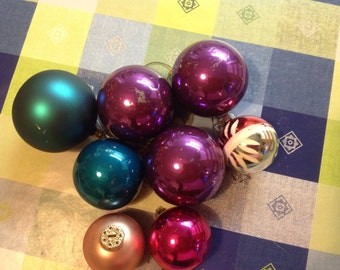 Vintage Glass Christmas Tree Ornaments - Christmas Baubles