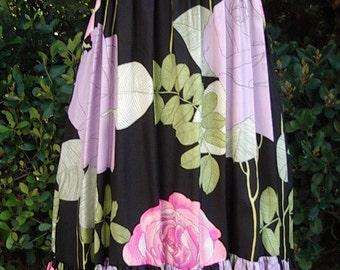 Reduced 35%  Rose Floral Silk Dress/ Jacket /Multi Options Wearability Designer Original Item #661 Gowns Dresses