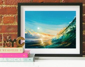North Shore Ocean Wave Art, North Shore Art, North Shore Poster, North Shore Print, North Shore Art, North Shore Map, North Shore Wall Art