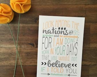 Wonder Print - Mint & Gold - Habukkuk 1:5