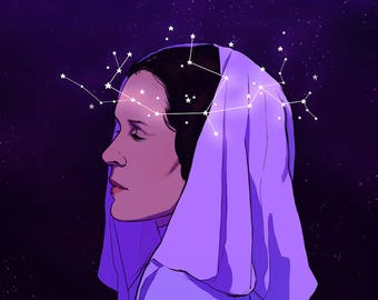 Princess Leia 11x11in Print