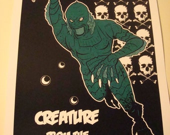 Creature from the Black Lagoon poster print