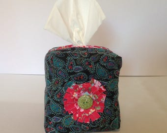 Quilted Tissue box Cover