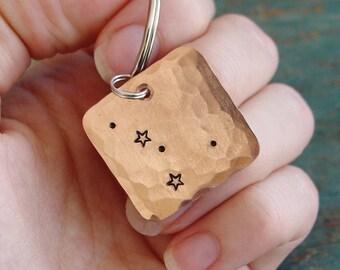 Cancer Constellation Keychain, Cancer Zodiac Gift, Copper Keychain, Cancer Star Sign, Zodiac Gifts, Astrology, June Birthday, July Birthday