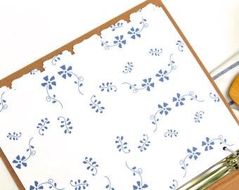 Recipe Binder Tabs - Additional Tabs Sets for your Recipe Binder in Royal Design