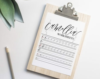 Modern Calligraphy Practice Workseets | Camellia Style